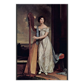 Portrait Of Eliza Ridgely (The Lady With The Harp) Poster