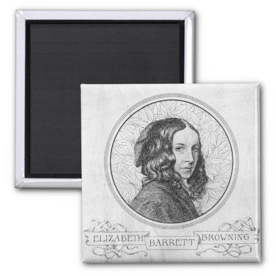 Portrait of Elizabeth Barrett Browning Magnet