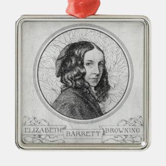 Portrait of Elizabeth Barrett Browning Metal Ornament