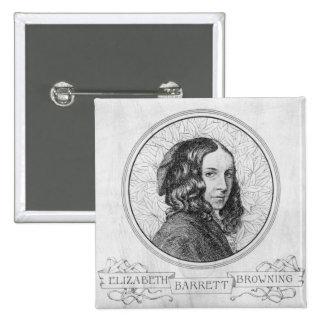 Portrait of Elizabeth Barrett Browning Pinback Button