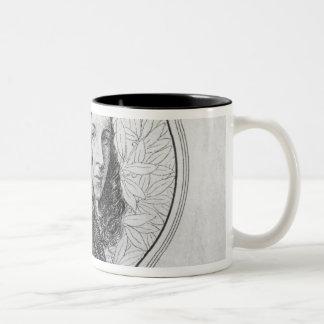 Portrait of Elizabeth Barrett Browning Two-Tone Coffee Mug