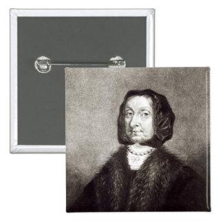 Portrait of Elizabeth Cromwell Button