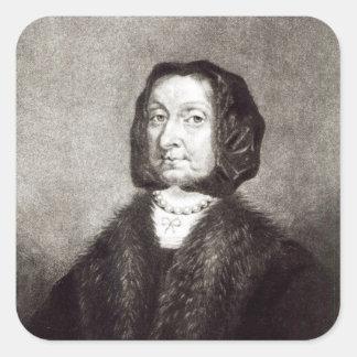 Portrait of Elizabeth Cromwell Square Sticker