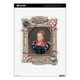 Portrait of Elizabeth Fitzgerald (c.1528-89) Count Skins For iPad 3