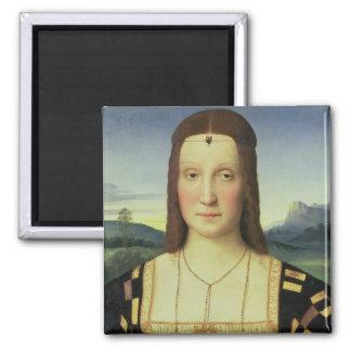 Portrait of Elizabeth Gonzaga, c.1504 (oil on pane Magnet