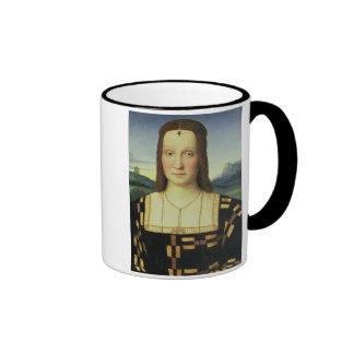 Portrait of Elizabeth Gonzaga, c.1504 (oil on pane Ringer Mug