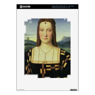 Portrait of Elizabeth Gonzaga, c.1504 (oil on pane Skins For iPad 3