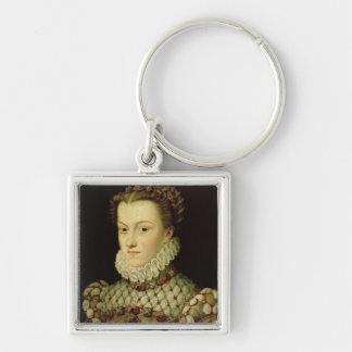 Portrait of Elizabeth of Austria (1554-92) Queen o Keychain