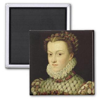 Portrait of Elizabeth of Austria (1554-92) Queen o Fridge Magnets