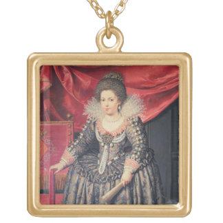 Portrait of Elizabeth of France (1602-44) daughter Gold Plated Necklace