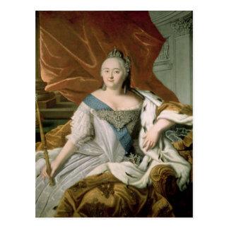 Portrait of Elizabeth Petrovna  Empress Postcard