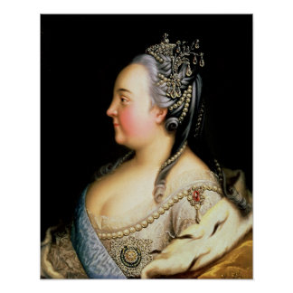 Portrait of Elizabeth Petrovna  Empress Print