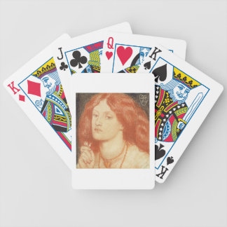 Portrait of Elizabeth Siddal (1834-62), 1860 (red Bicycle Playing Cards