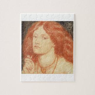 Portrait of Elizabeth Siddal (1834-62), 1860 (red Jigsaw Puzzle