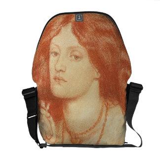 Portrait of Elizabeth Siddal (1834-62), 1860 (red Courier Bag