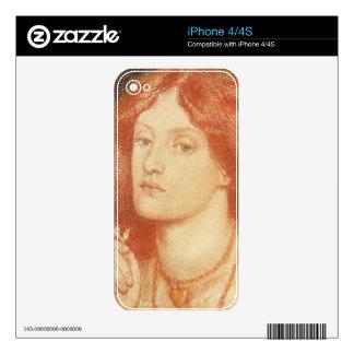 Portrait of Elizabeth Siddal (1834-62), 1860 (red Skins For iPhone 4S