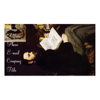 'Portrait of Emile Zola' Double-Sided Standard Business Cards (Pack Of 100)