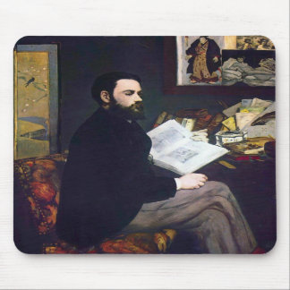 Portrait of Emile Zola by Edouard Manet Mouse Pad