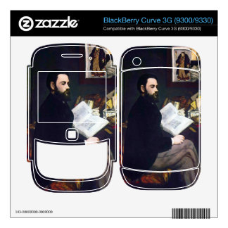 Portrait of Emile Zola by Edouard Manet Decals For BlackBerry