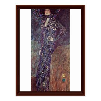 Portrait Of Emilie Floege By Klimt Gustav Postcard