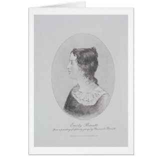 Portrait of Emily Bronte (1818-48) engraved by Wal Card