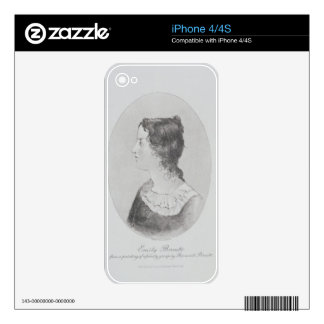 Portrait of Emily Bronte (1818-48) engraved by Wal iPhone 4S Skins