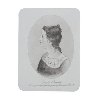 Portrait of Emily Bronte (1818-48) engraved by Wal Rectangular Photo Magnet