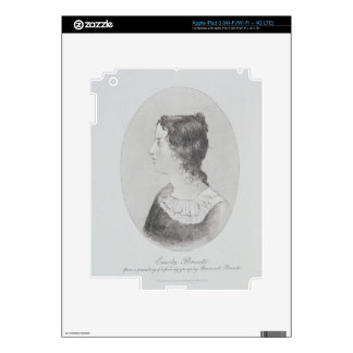 Portrait of Emily Bronte (1818-48) engraved by Wal Skins For iPad 3