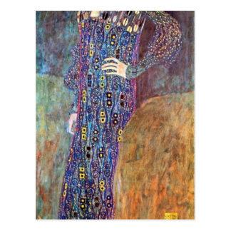 Portrait of Emily Floge by Gustav Klimt Postcard