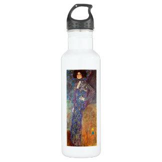 Portrait of Emily Floge by Gustav Klimt Stainless Steel Water Bottle