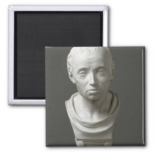 Portrait of Emmanuel Kant , 1801 2 Inch Square Magnet