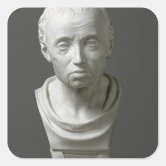 Portrait of Emmanuel Kant , 1801 Square Sticker