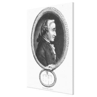 Portrait of Emmanuel Kant 2 Canvas Print