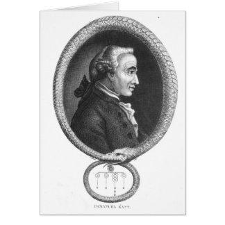 Portrait of Emmanuel Kant 2 Card