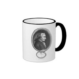 Portrait of Emmanuel Kant 2 Ringer Coffee Mug