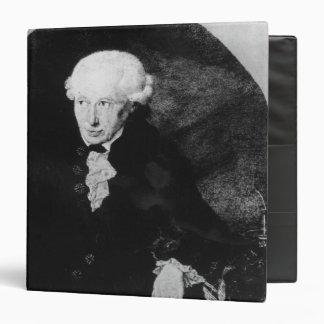 Portrait of Emmanuel Kant 3 Ring Binder