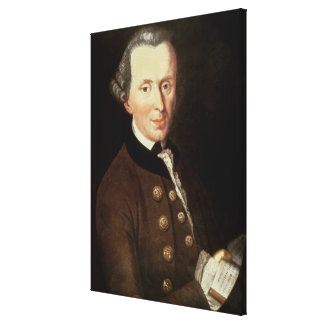 Portrait of Emmanuel Kant Canvas Print