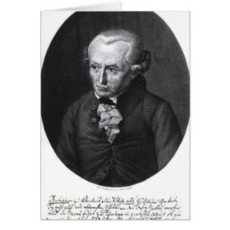 Portrait of Emmanuel Kant Card