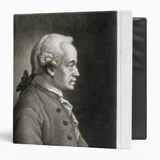 Portrait of Emmanuel Kant , German philosopher 3 Ring Binders