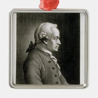 Portrait of Emmanuel Kant , German philosopher Metal Ornament