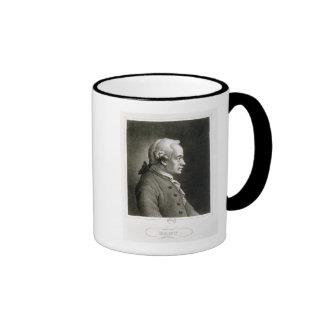 Portrait of Emmanuel Kant , German philosopher Ringer Coffee Mug