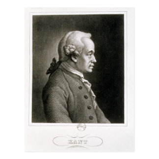 Portrait of Emmanuel Kant , German philosopher Postcard