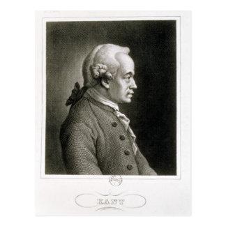 Portrait of Emmanuel Kant , German philosopher Postcard