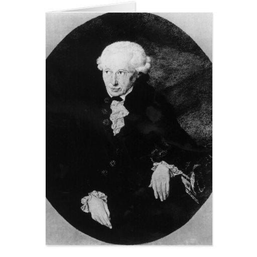 Portrait of Emmanuel Kant Greeting Card