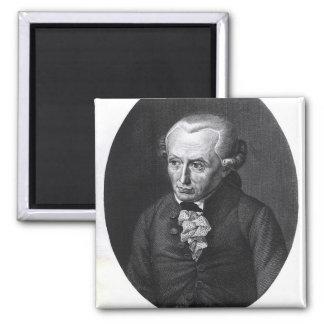 Portrait of Emmanuel Kant 2 Inch Square Magnet