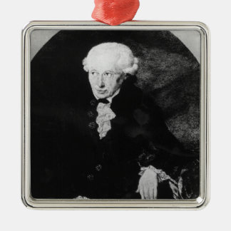 Portrait of Emmanuel Kant Metal Ornament