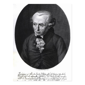 Portrait of Emmanuel Kant Postcard