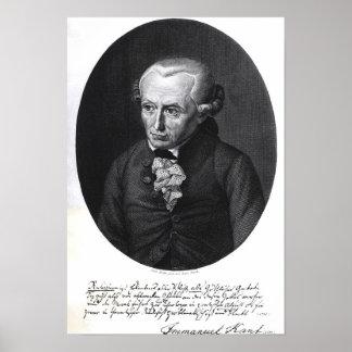 Portrait of Emmanuel Kant Poster