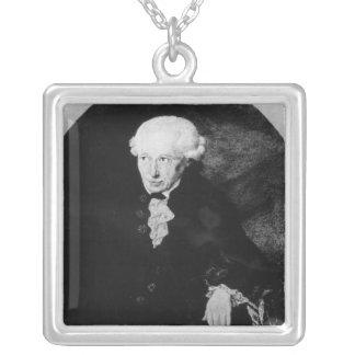 Portrait of Emmanuel Kant Silver Plated Necklace