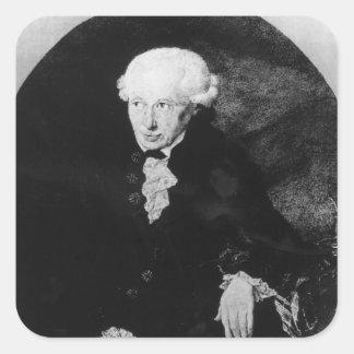 Portrait of Emmanuel Kant Square Sticker